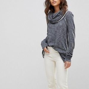 Free People FP Beach Cowl neck cocoon pullover L